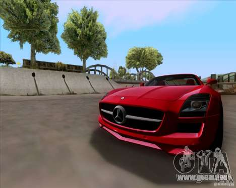 Mercedes-Benz SLS AMG V12 TT Black Revel pour GTA San Andreas laissé vue