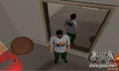 Grüne Tag T-shirt für GTA San Andreas dritten Screenshot