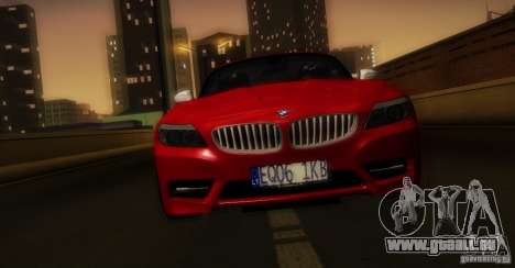 BMW Z4 Stock 2010 für GTA San Andreas Unteransicht