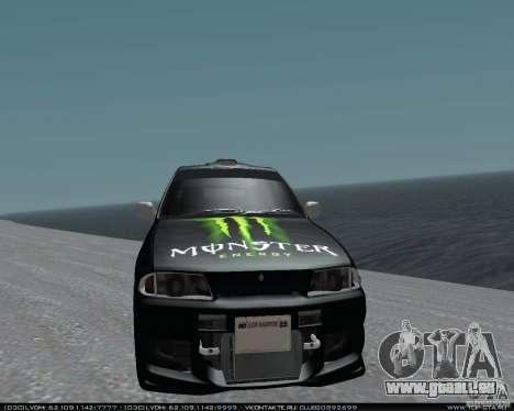 Nissan Skyline R32 GT-R + 3 de vinyle pour GTA San Andreas vue arrière