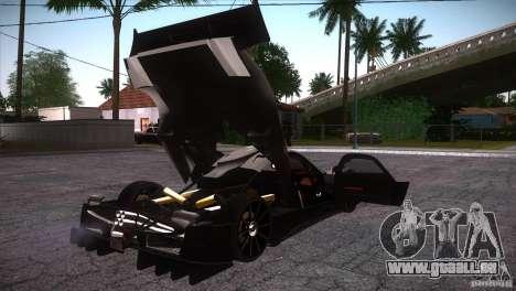 Pagani Zonda R für GTA San Andreas Unteransicht