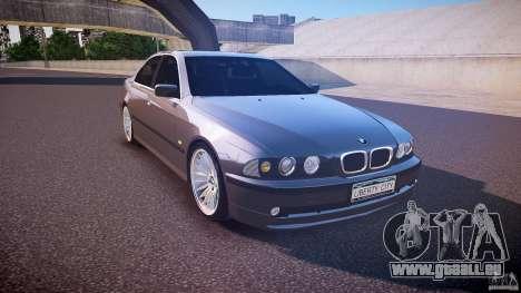 BMW 530I E39 stock white wheels pour GTA 4 Vue arrière