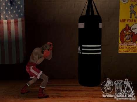 Nouveau sac de boxe boxe pour GTA San Andreas troisième écran