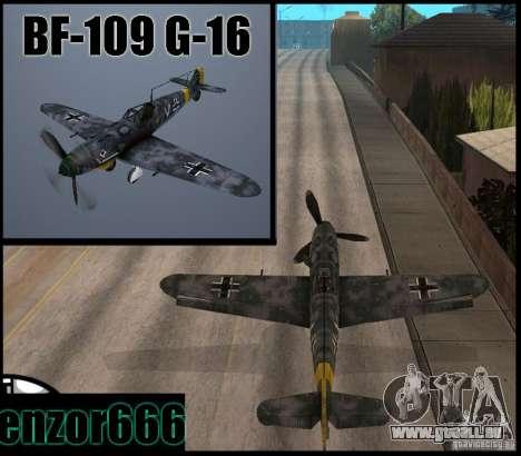 BF-109 G-16 für GTA San Andreas