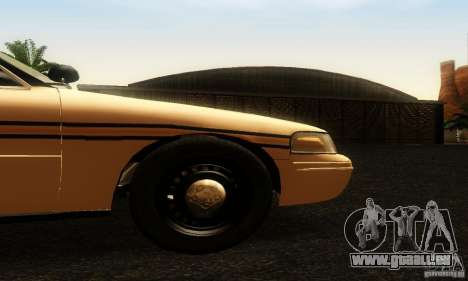 Ford Crown Victoria Tennessee Police pour GTA San Andreas vue de droite