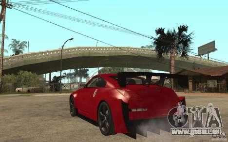Nissan 350Z Supreme für GTA San Andreas zurück linke Ansicht