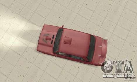 VAZ 2107 Ex Tuning pour GTA San Andreas sur la vue arrière gauche