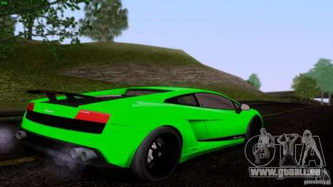 Lamborghini Gallardo LP570-4 Superleggera für GTA San Andreas zurück linke Ansicht