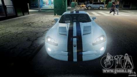 Dodge Viper SRT-10 pour GTA 4 vue de dessus