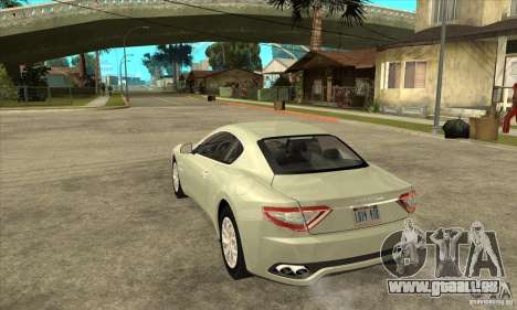 Maserati Gran Turismo 2008 für GTA San Andreas zurück linke Ansicht