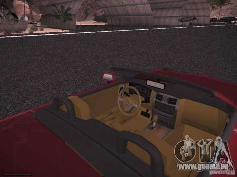 Cadillac XLR 2006 für GTA San Andreas Rückansicht