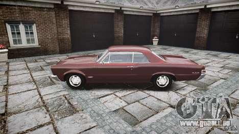 Pontiac GTO 1965 pour GTA 4 est une vue de l'intérieur