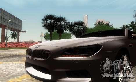 BMW M6 Coupe 2013 pour GTA San Andreas vue de droite