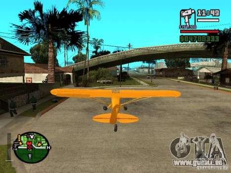 Piper J-3 Cub pour GTA San Andreas sur la vue arrière gauche
