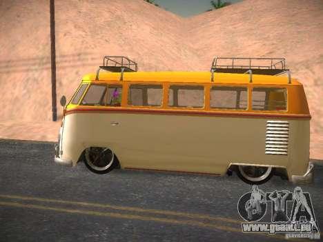 Volkswagen Type 2 Custom pour GTA San Andreas vue intérieure