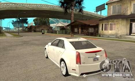 Cadillac CTS-V 2009 v2.0 für GTA San Andreas zurück linke Ansicht