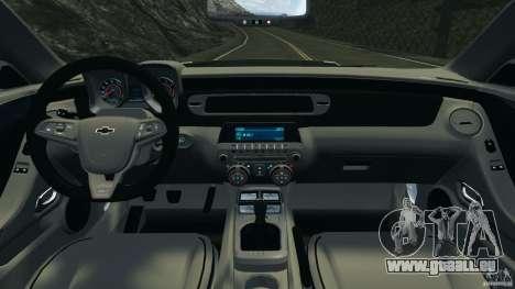 Chevrolet Camaro ZL1 2012 v1.0 Flames pour GTA 4 Vue arrière