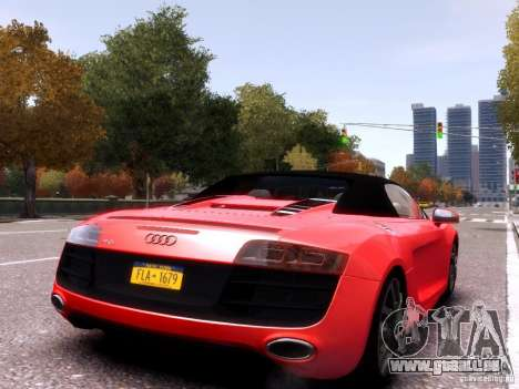 Audi R8 Spyder 5.2 FSI quattro V4 EPM pour GTA 4 est une gauche