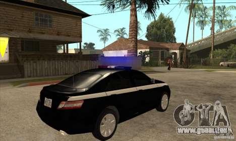 Toyota Camry 2010 SE Police RUS für GTA San Andreas rechten Ansicht