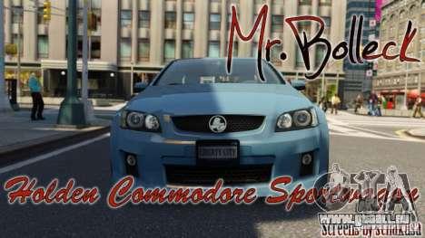 Holden VE Commodore Sportwagon SS 2009 pour GTA 4