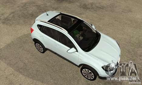 Nissan Qashqai 2011 pour GTA San Andreas vue intérieure