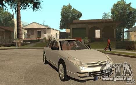 Citroen C6 für GTA San Andreas Rückansicht