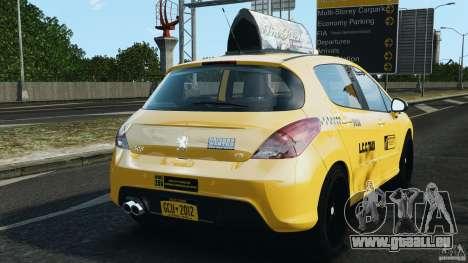 Peugeot 308 GTi 2011 Taxi v1.1 pour GTA 4 Vue arrière de la gauche
