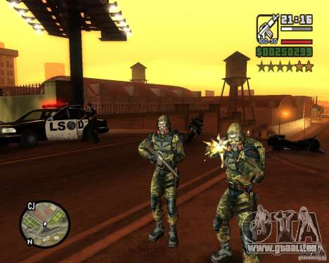 Regroupant les harceleurs de la liberté pour GTA San Andreas deuxième écran