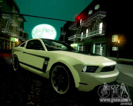 Ford Mustang Boss 302 2011 für GTA San Andreas Rückansicht