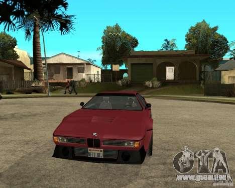 BMW M1 für GTA San Andreas Rückansicht