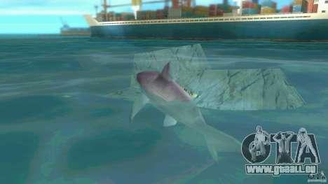 Shark Boat pour GTA Vice City sur la vue arrière gauche