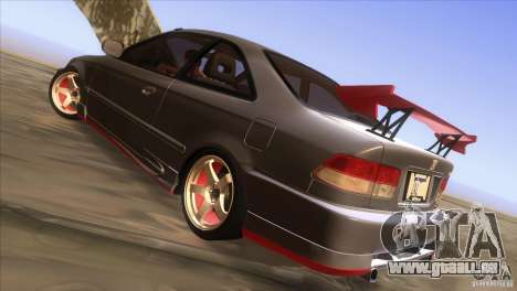 Honda Civic SI pour GTA San Andreas vue de dessus