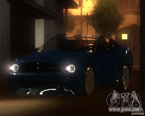 Shelby Mustang 2009 pour GTA San Andreas laissé vue