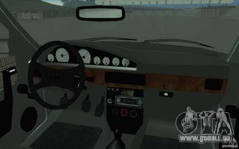 Audi 100 Avant Quattro pour GTA San Andreas vue de dessus