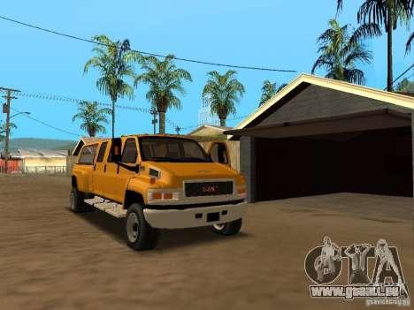 GMC TopKick pour GTA San Andreas vue intérieure