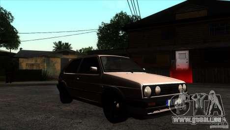 VW Golf 2 pour GTA San Andreas vue arrière