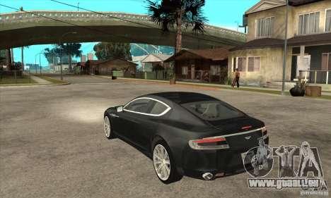 Aston Martin Rapide 2010 pour GTA San Andreas sur la vue arrière gauche