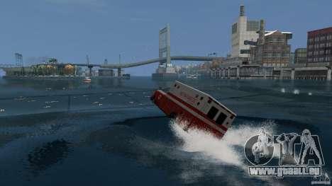 Ambulance boat für GTA 4 linke Ansicht