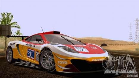 McLaren MP4-12C Speedhunters Edition pour GTA San Andreas vue de dessous