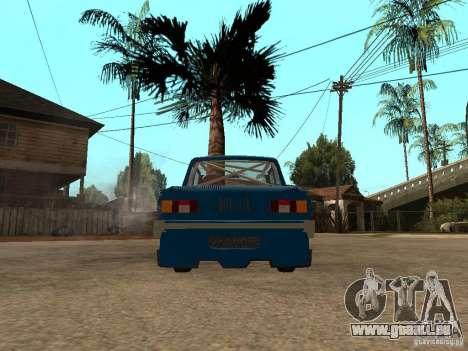 ZAZ 968 MUSIQUE EXPERT pour GTA San Andreas sur la vue arrière gauche
