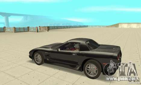 Chevrolet Corvette 5 pour GTA San Andreas vue arrière