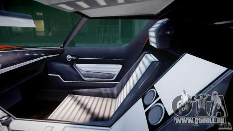 Lamborghini Miura P400 1966 pour GTA 4 est une vue de l'intérieur