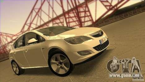 Opel Astra 2010 pour GTA San Andreas salon