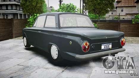 Lotus Cortina S 1963 pour GTA 4 est une vue de dessous