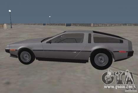 DeLorean DMC-12 pour GTA San Andreas laissé vue