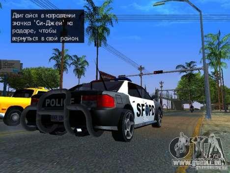 San-Fierro Sultan Copcar pour GTA San Andreas laissé vue