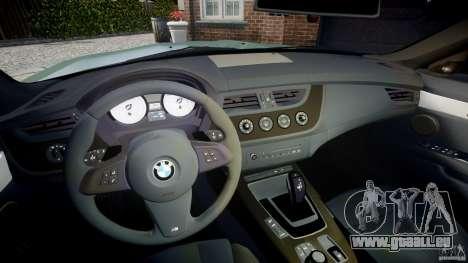 BMW Z4 sDrive35is 2011 v1.0 pour GTA 4 Vue arrière