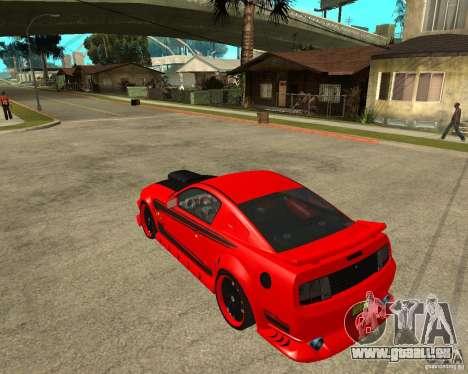 Ford Mustang Red Mist Mobile pour GTA San Andreas laissé vue