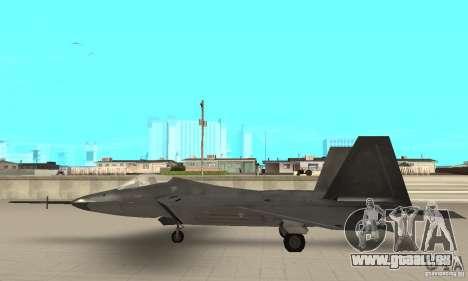 YF-22 Black für GTA San Andreas linke Ansicht