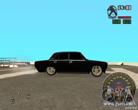 VAZ 2107 DuB pour GTA San Andreas laissé vue
